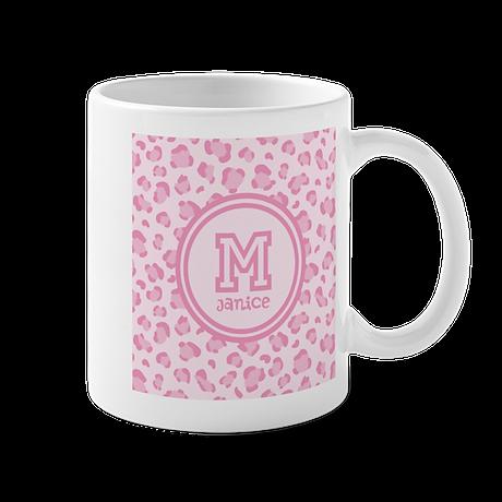 Pink Monogram Mug