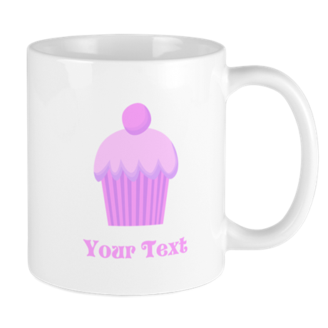 Pink Cupcake with Custom Text Mug