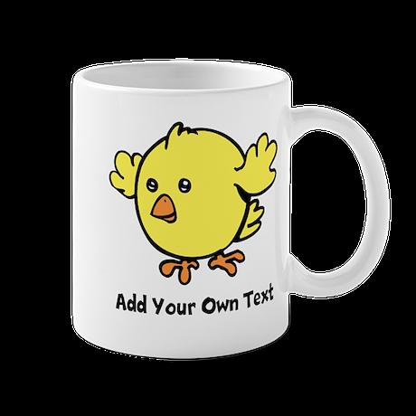Cute Chick. Black Text Mug