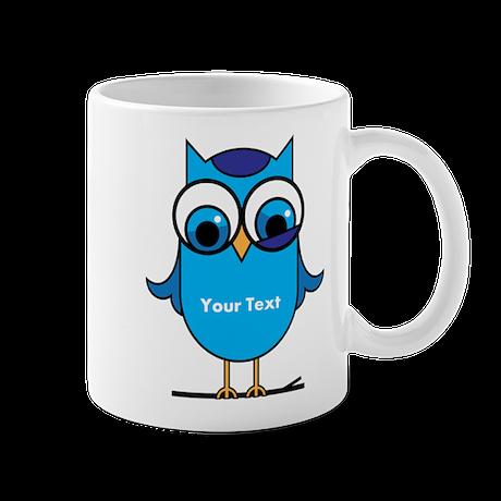 Custom Blue Owl Branch Mug