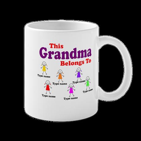 Personalized Grandma 6 girls Mug