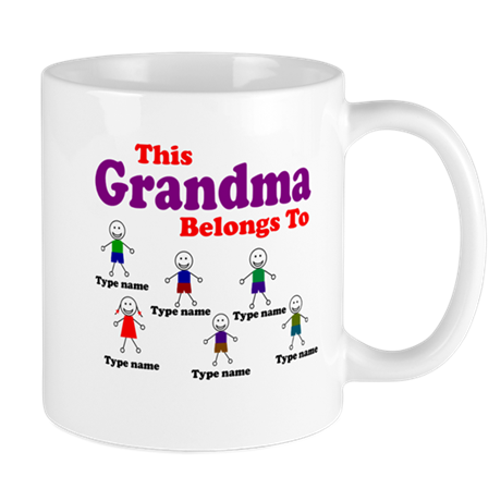 Personalized Grandma 6 kids Mug