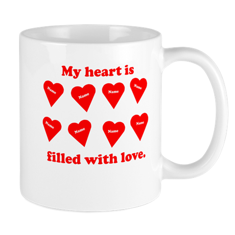 Personalized My Heart Filled Mug