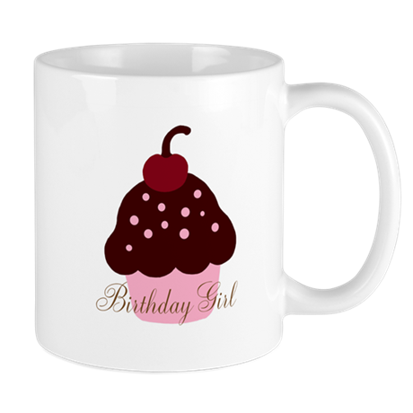 Birthday Girl Cupcake Mug