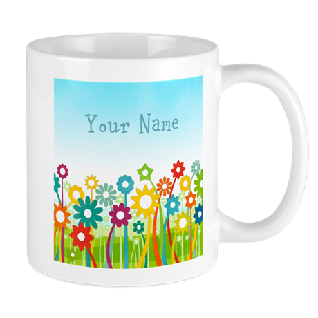 Floral Friends Customizable Mug
