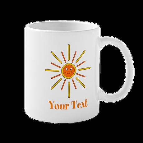 Summer Sun with Text. Mug