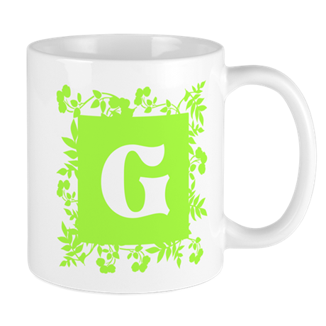 Plants and Letter G. Mug
