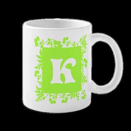 Plants and Letter K. Mug