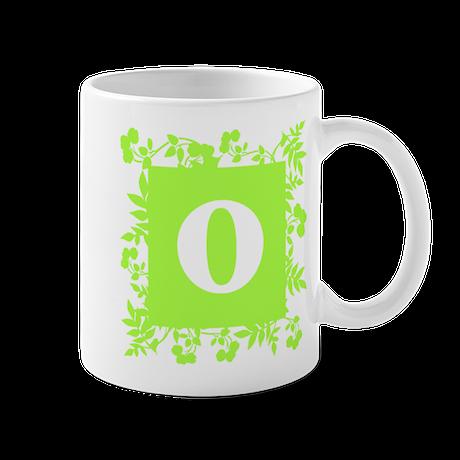 Plants and Letter O. Mug