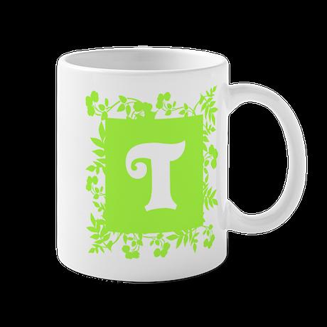 Plants and Letter T. Mug