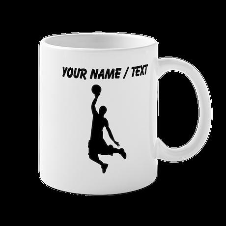 Custom Black Basketball Dunk Silhouette Mug