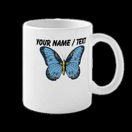 Custom Blue Butterfly Mug