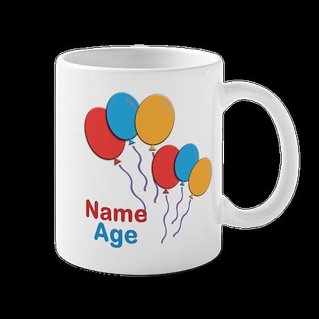 CUSTOMIZE Happy Birthday Any Age Mug - Right