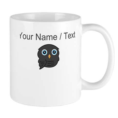 Custom Black Owl Mugs