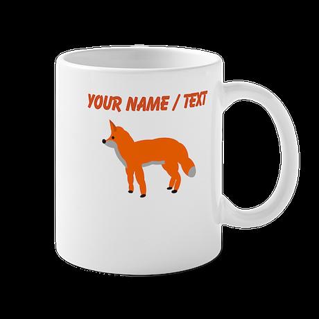 Custom Orange Fox Pup Mugs