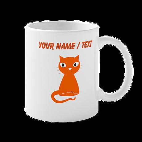 Custom Cartoon Orange Cat Mugs
