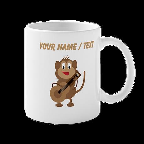 Custom Monkey Playing Guitar Mugs