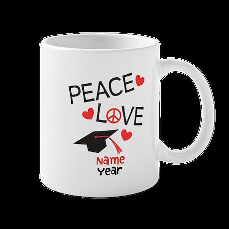 Customize Peace Love Grad Mug