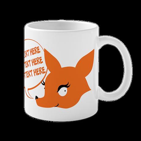 CUSTOM TEXT Cute Fox Mugs