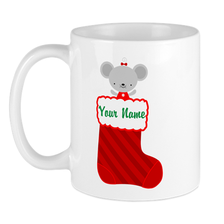 Personalized Christmas Mouse Mug by mainstreetshirt