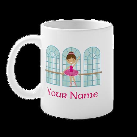 Customized Pink Ballerina Mug