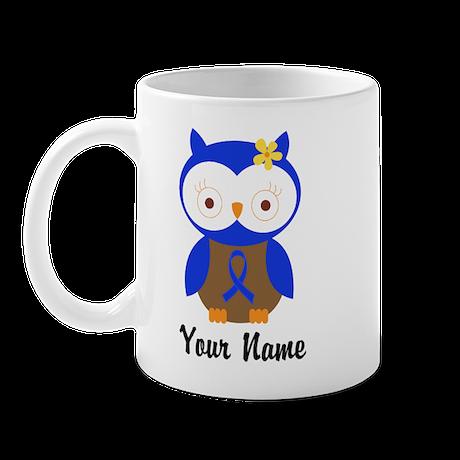 Blue Ribbon Owl Awareness Mug