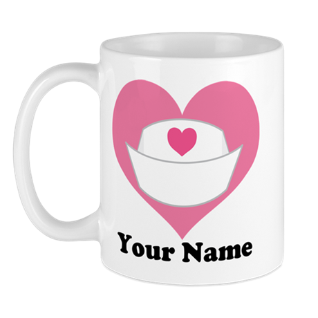 Personalized Nurse Heart Mug