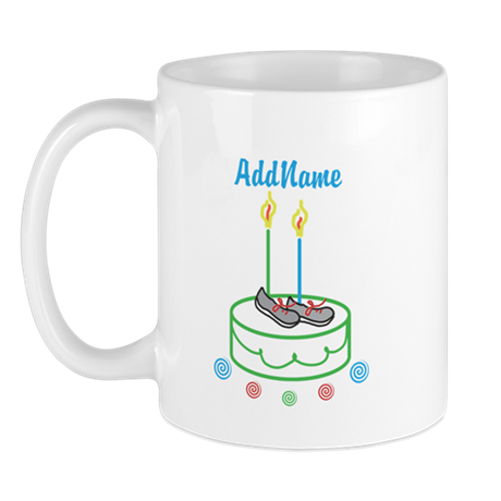 CUSTOMIZE Sports Birthday Mugs - Left