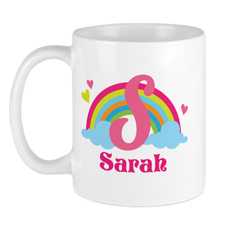 Personalized S Monogram Mugs