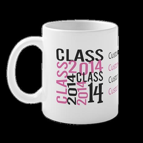 Customize PINK Mosaic Class 2014 Mug