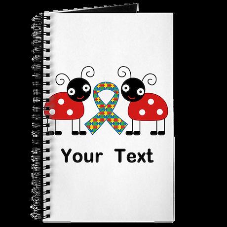 Personalized Autism Ladybug Journal