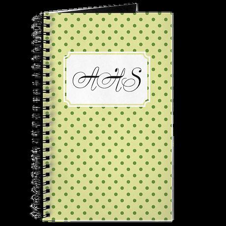 Diagonal Dots Lime Journal