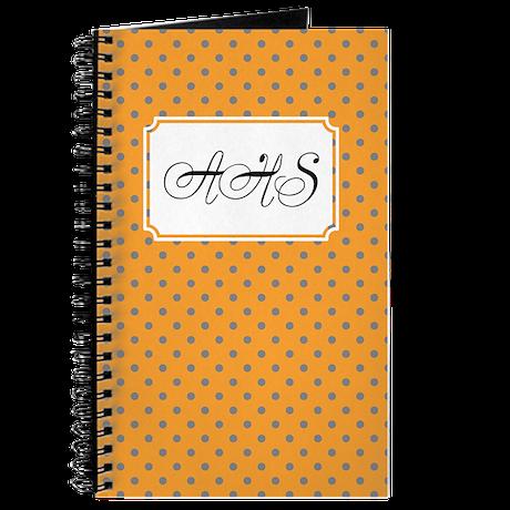 Diagonal Dots Orange Journal