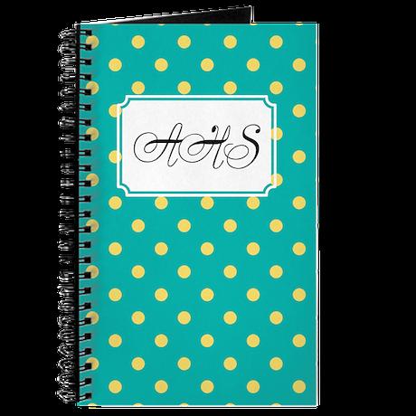 Diagonal Dots Teal Journal