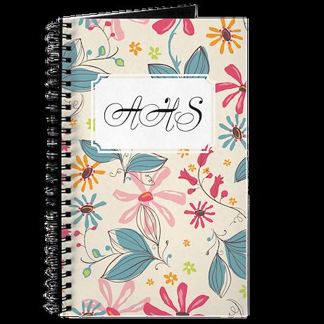 Flower Botanical Cream Journal
