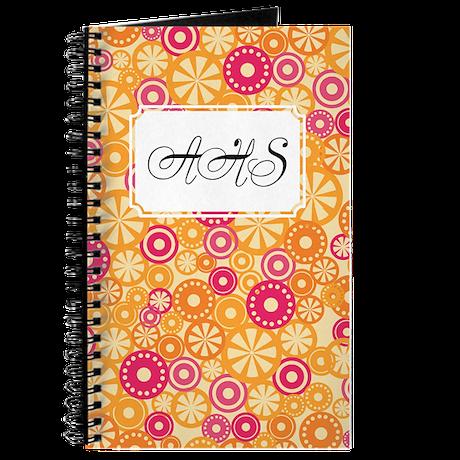 Flower Dots Yellow Journal