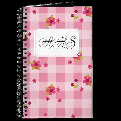 Flower Gingham Pink Journal