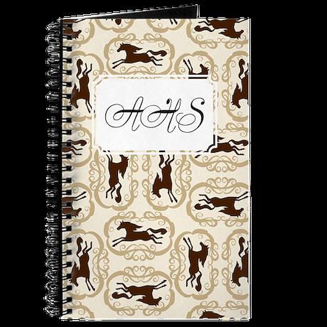 Horse Silhouette Tan Journal