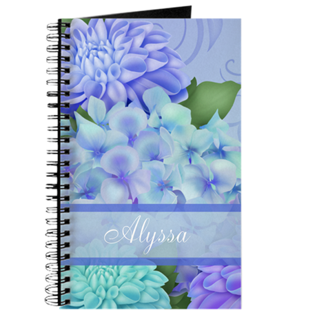Purple Hydrangea Personalized Journal