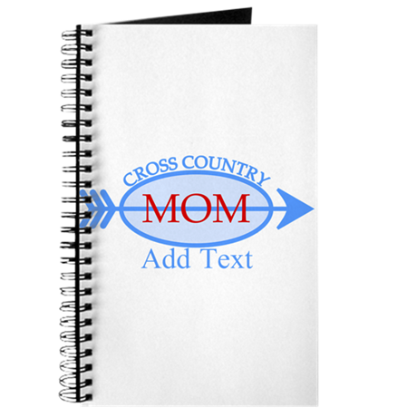 Cross Country Mom Blue Text Journal