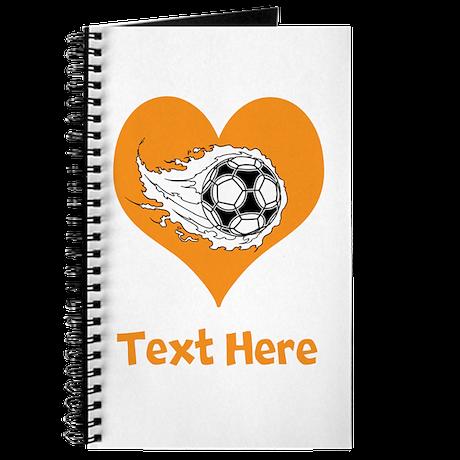 Soccer Ball, Heart and Text. Journal
