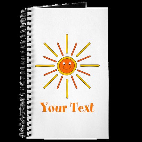 Summer Sun with Text. Journal