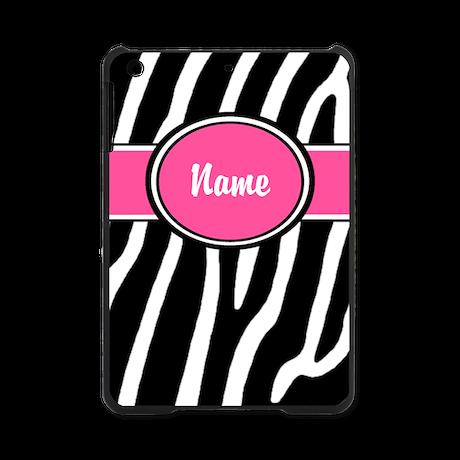 Pink Zebra Print Personalized iPad Mini Case