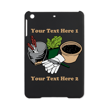 Gardening. Custom Text iPad Mini Case