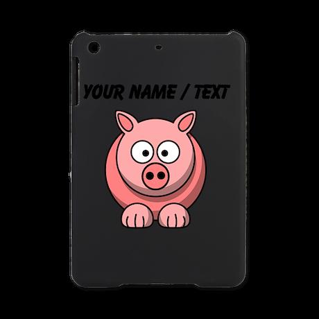 Custom Pink Pig Cartoon iPad Mini Case