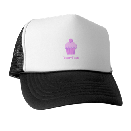 Pink Cupcake with Custom Text Trucker Hat