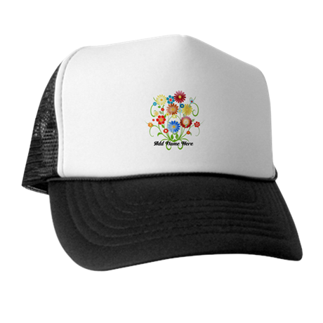 Personalized floral light Trucker Hat
