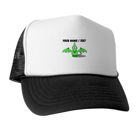 Custom Green Pterodactyl Cartoon Trucker Hat