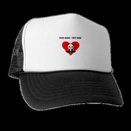Custom Cute Panda Heart Trucker Hat