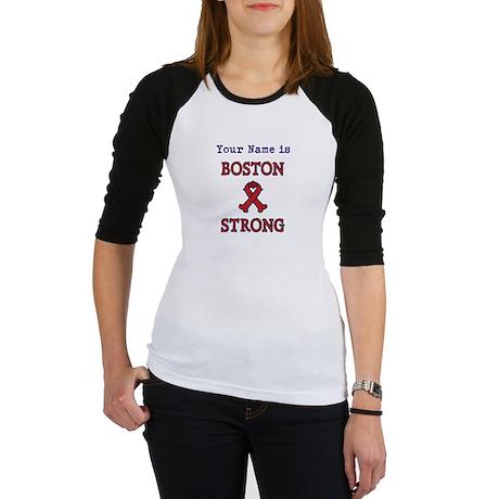 Boston Strong Ribbon Lt - Personalized! Baseball J